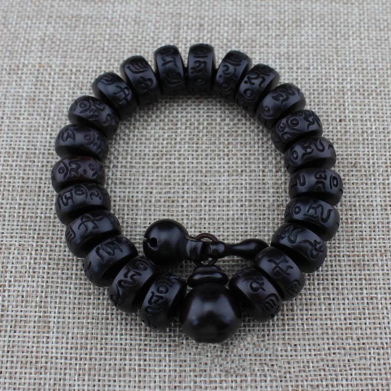 Fashion Women Men Hand Carved Wood Beads Bracelet Buddha Bracelets Jewelry Gifts CX17