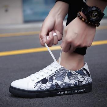 New Arrival 2018 High Quality Men Flats Shoes Breathable Fashion Men Vulcanized Canvas Shoes Zapatos Hombre Mens Flats 2018 new arrival puma men s tsugi jun cubism sneaker badminton shoes size36 44
