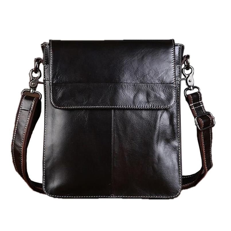 ФОТО 2016 New Genuine Leather Men bags Fashion Brand Designer Handbags Shoulder Vintage Retro Cow Bags Men Messenger Bags