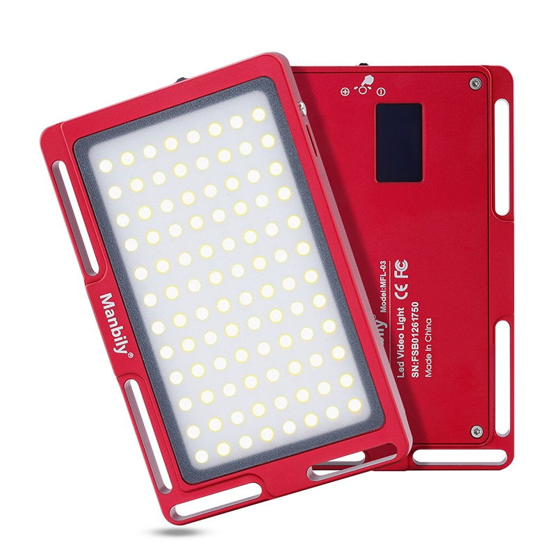 Manbily MFL-03 3500-5700 K LED Mini cámara de Video regulable luz 96 LED iluminación fotográfica lámpara para Canon DSLR nikon Pentax