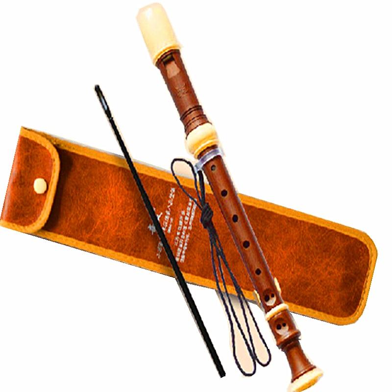 Soprano Germanic 8 Hole Gaita Recorder Clarinet Flute C Key Chinese Vertical Flute Blokfluit Registratore Estuche Flauta Colegio