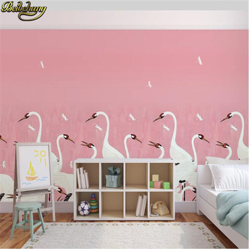 beibehang Custom photo Mural wallpapers for living room TV Background Wall Bedroom Red-crowned crane sofa background wall