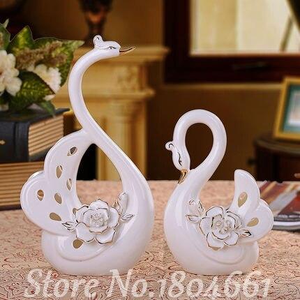 ГОРЯЧІ керамічні лебеді декор декору - Домашній декор
