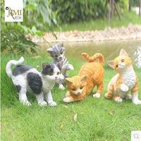 Simulated cat crafts, animal sculpture, garden decoration