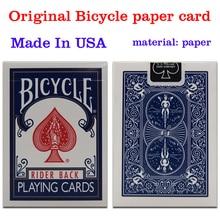 Оригинал Велосипедов Poker 1 шт. Синий или Красный Велосипед Магия фокусы регулярные Игральные карты Rider Вернуться Стандартный Палубы Фокус Бесплатно доставка
