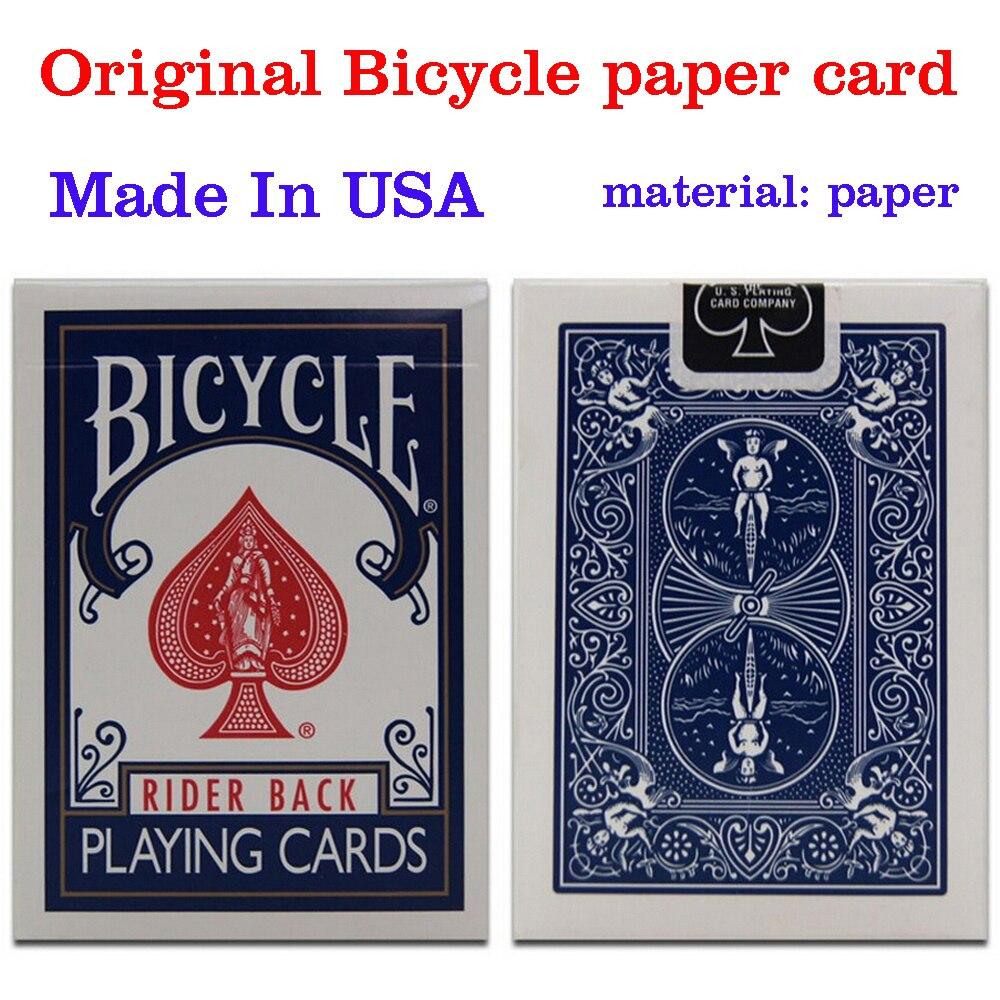 D'origine Vélo Poker 1 pcs Bleu ou Rouge Régulière Vélo Cartes À Jouer Rider Retour Standard Ponts Magic Trick Livraison Gratuite