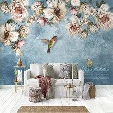 цена на European Style 3D Oil Painting Rose Flowers Photo Murals Wallpaper Living Room TV Sofa Bedroom Background Wall Home Decor Fresco