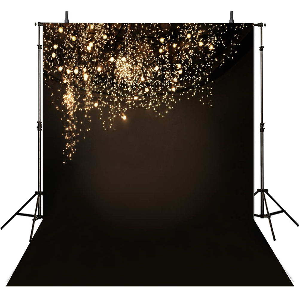 200*300cm(6.5*10ft) Wedding Studio Backdrop Black Romantic Backgrounds Fireworks Light Bride Close-up For Studio