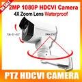 HD 1080 P Mini Bala de Segurança CCTV PTZ HDCVI Câmera de 2MP 4X Lente Zoom Manual de Pan/Tilt Rotação Ao Ar Livre Visão Nocturna do IR