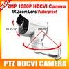 HD Security CCTV 1080P Mini Bullet PTZ HDCVI Camera 2MP 4X Zoom Manual Lens Pan/Tilt Rotation Outdoor IR Night Vision