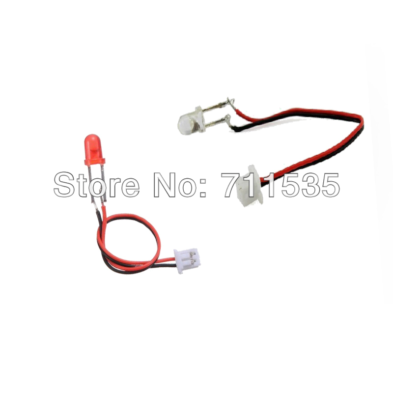 v959 13 red   white led light wire spare parts for wltoys v959 v969 v979 v989 v999 4ch 2 4ghz rc