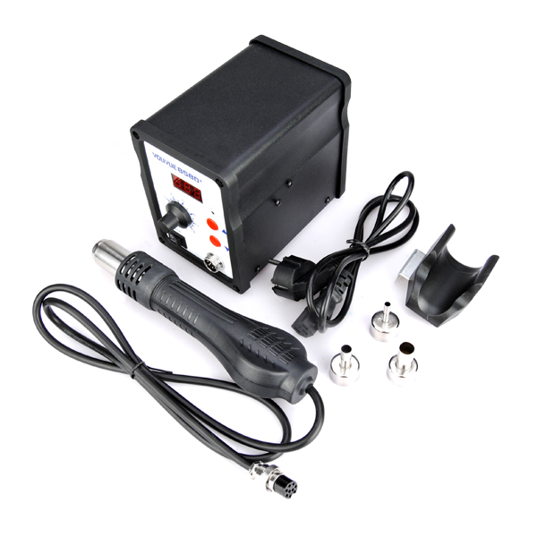 ФОТО 220V 700W YOUYUE 858D+ ESD Soldering Station LED Digital Soldering  Iron