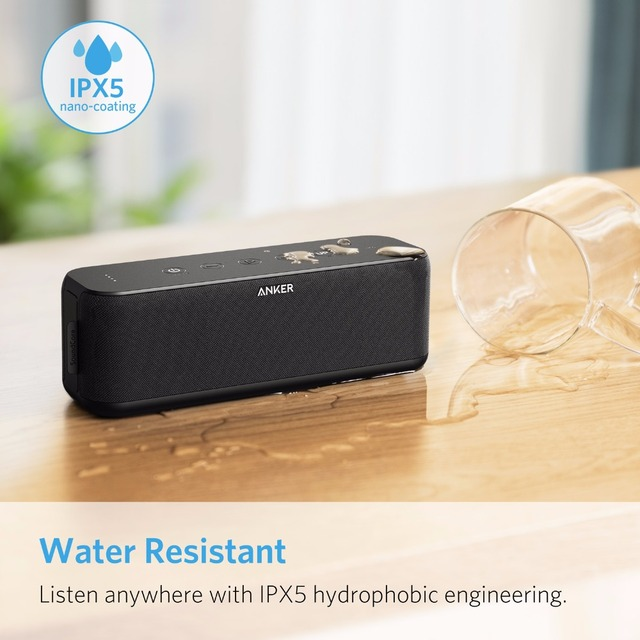 SoundCore Boost 20W Bluetooth Speaker with BassUp Technology 12h Playtime IPX5 Water-Resistant 66ft Bluetooth Range