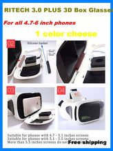 2016 Google Cardboard RITECH III Plus Immersive VR BOX VR Virtual Reality 3D Glasses Headsets for xiaomi nokia meizu samsung
