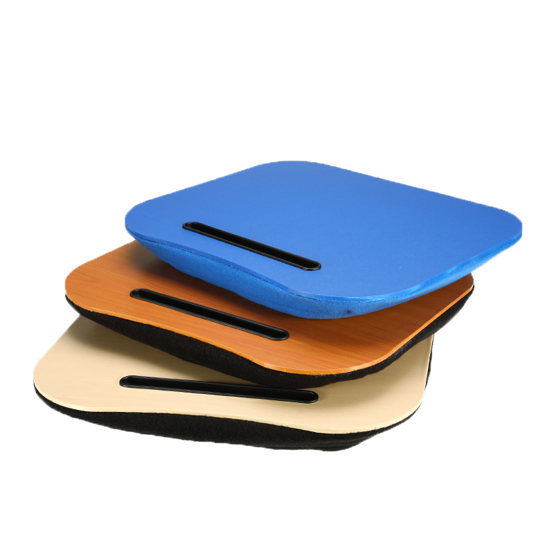 Desk Bed Cushion Knee Lap Portable Handy Computer Reading Writing Table Tray Cup Holder Laptop Stand Pillow for Office