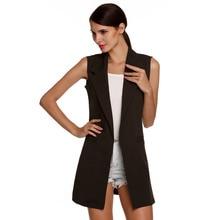 Big Size Summer Autumn Coast Women Sleeveless Trench Coat Long Cloak Cardigan Abrigos Mujer Casaco Feminino J76