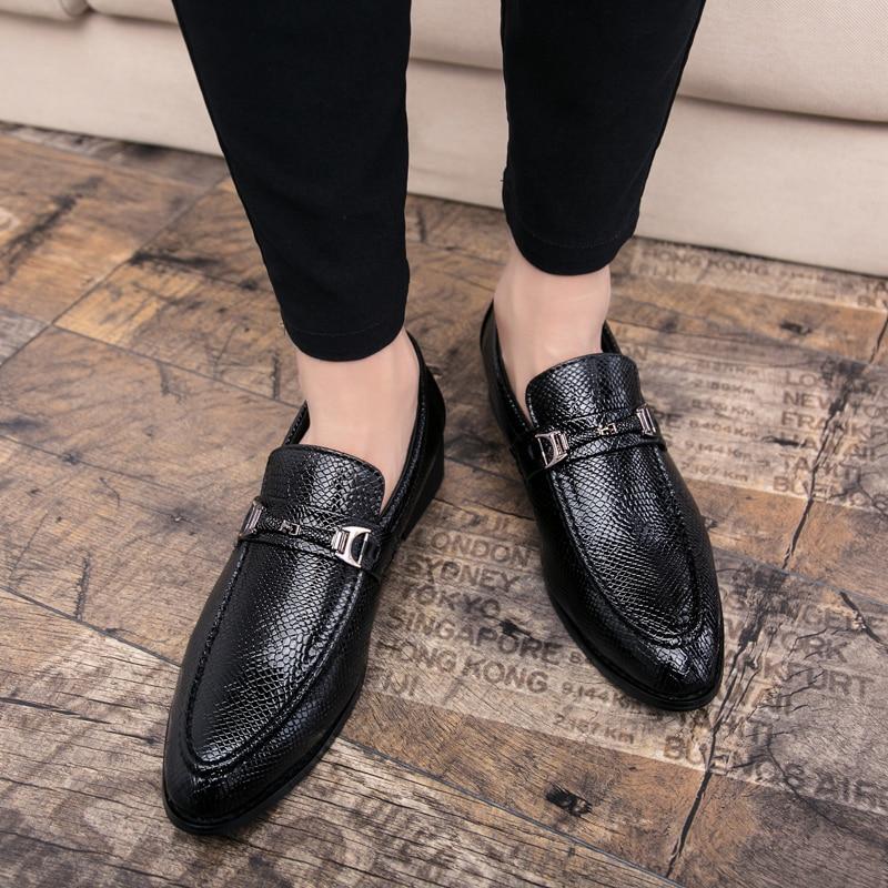 men's snake skin cool platform oxfords patent leather shoes male footwear wedding fashion famous designer brogue shoes for men (14)