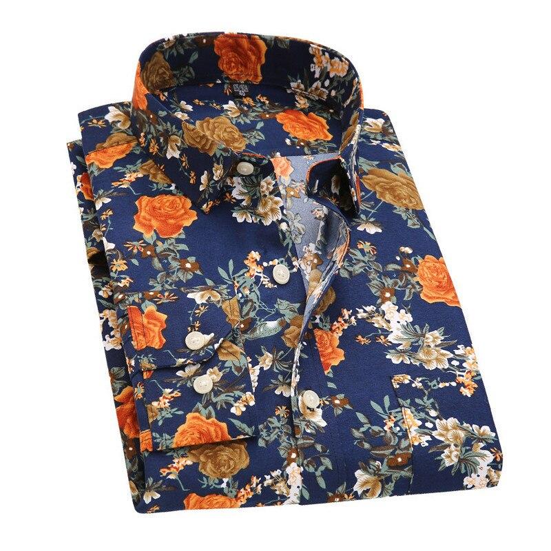 Popular mens floral print shirt buy cheap mens floral for Flower print mens shirt
