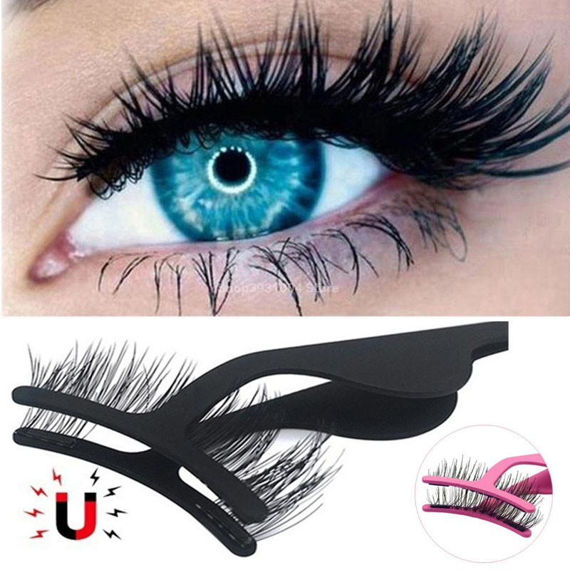 3D Mink Magnetic False Eyelashes Extensions Tweezers Make Up 3d Eye Lashes Clip Clamp Makeup Tool Beauty