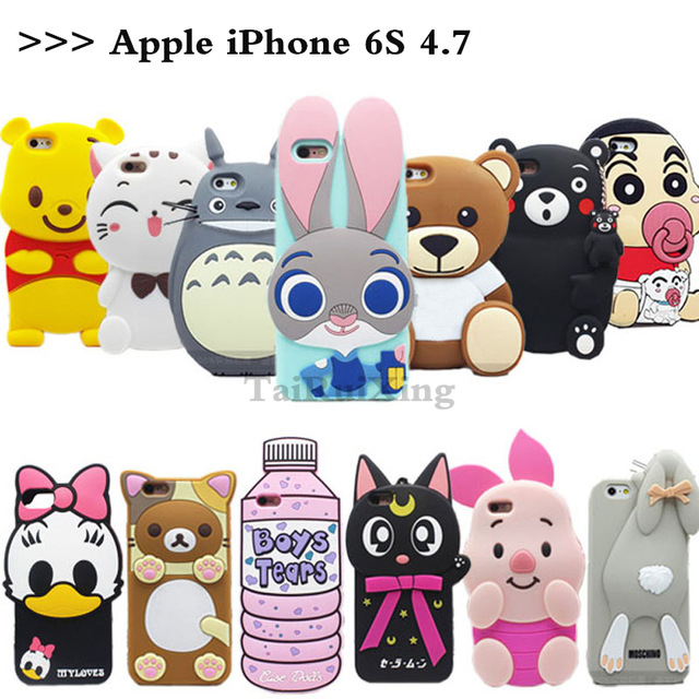 fc74839f1c Hot sales! 3D Minions Phone Silicone soft Case Cover Apple iPhone 6 6S s 4.7