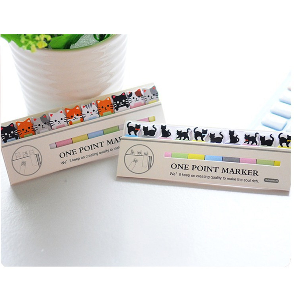 20Pcs/lot Kawaii Cat Memo Pad Creative Cartoon Animal N Sticky Notes Messages Post It for Stationery School Supply Kids Gift
