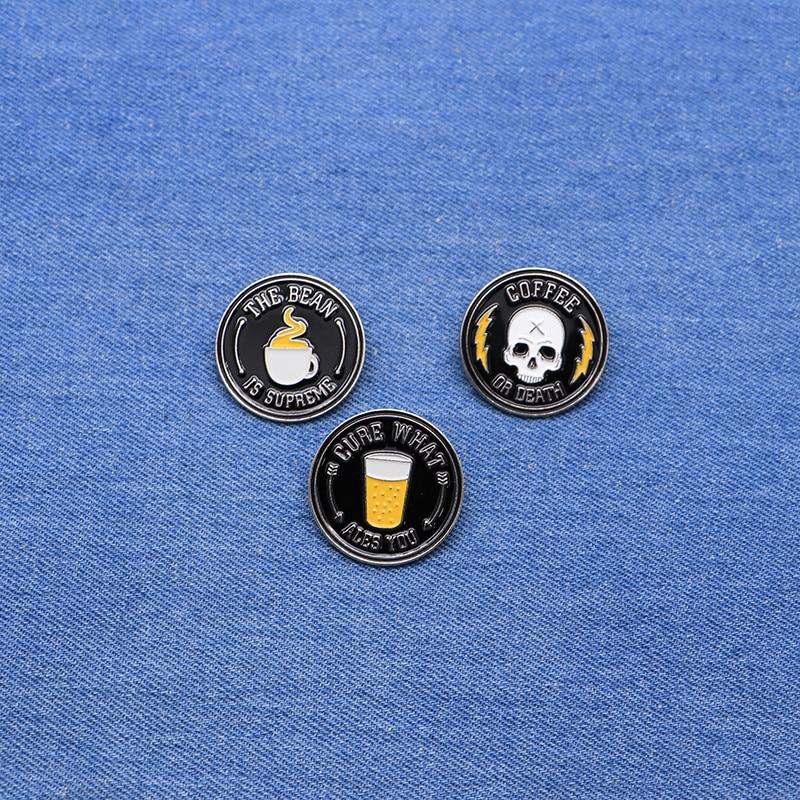 Badges Ace Skull Ribbon Bow Lapel Pin Badge Pin Xy0066 At Any Cost Home & Garden