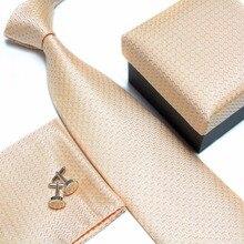 цена на mens tie fashion men's accessories cheap ties for men tie and handkerchief set cufflinks gift box