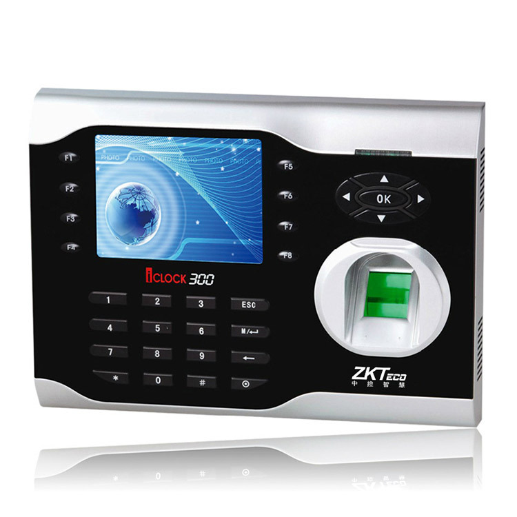 ZKTeco Muti-media Fingerprint Time Attendance Terminal IClock300 3.5 Inch Screen 125Khz EM ID Card And Fingerprint Time Clock
