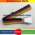 Verificador de diseño alemán bandera francesa aeroplano del cinturón de seguridad cinturón de hebilla de la manera de las bragas Intercambiables Extraíbles