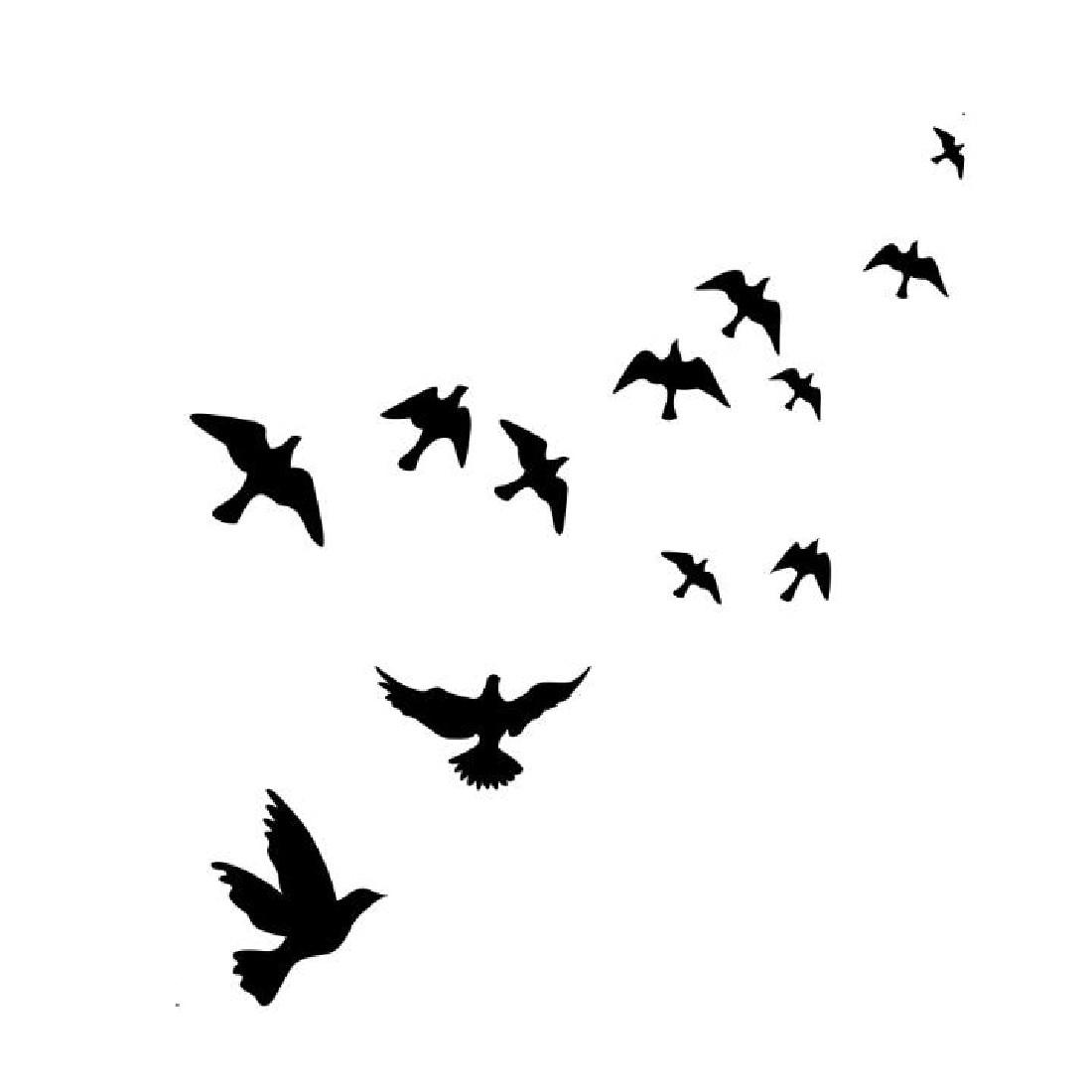 Mewarnai Gambar Burung Terbang Hitam Marimewarnaiwebsite