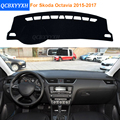 2016 Car Styling Dashboard Protective Mat Shade Cushion Photophobism Pad Interior Carpet For Skoda Octavia 2015-2017