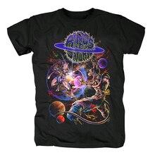 Bloodhoof Ringe von Saturn Pop herren Kurzarm mode baumwolle T shirt Asiatischen Größe