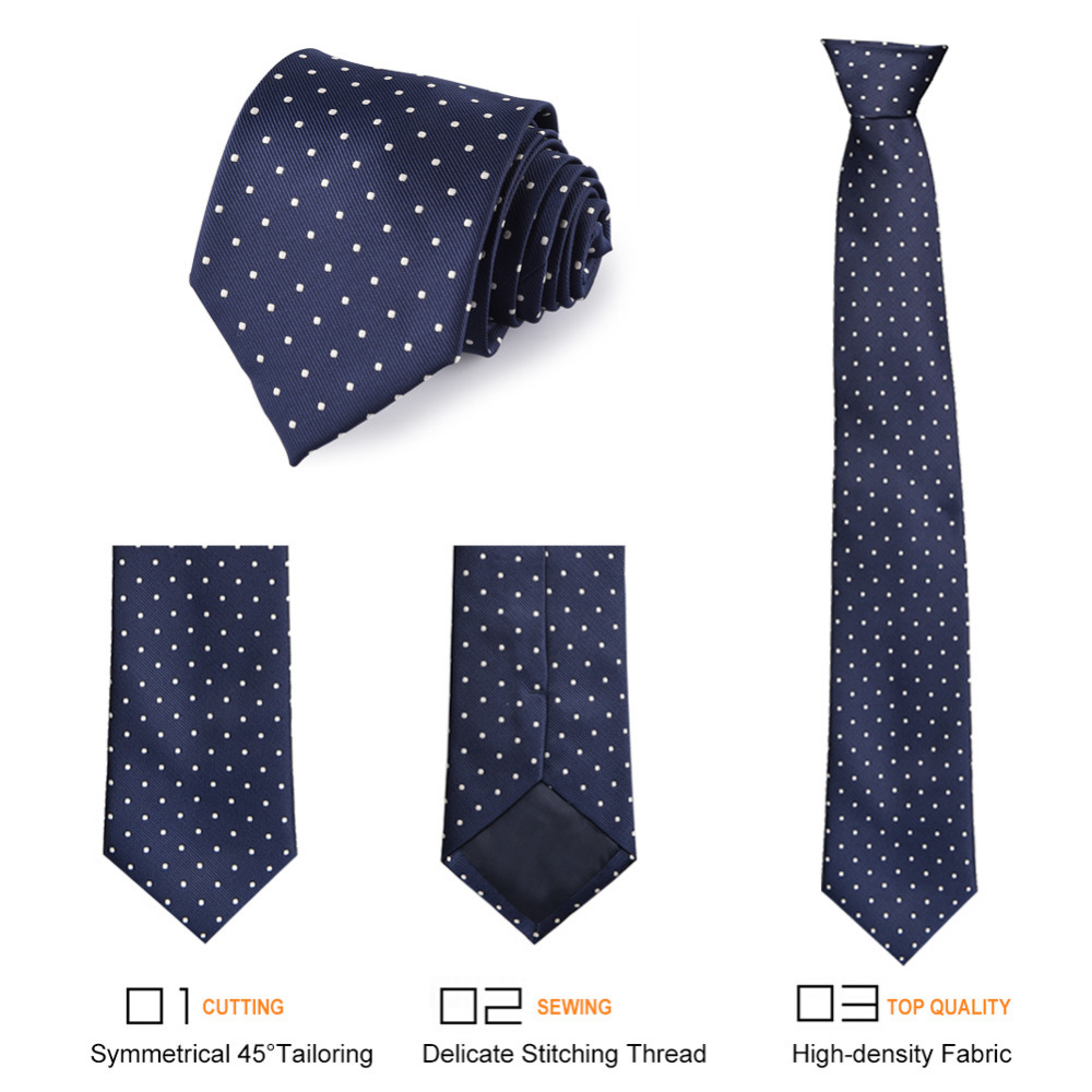 Vbiger Classic Hombres Corbata Corbatas Lazo de Lunares de la Boda ...