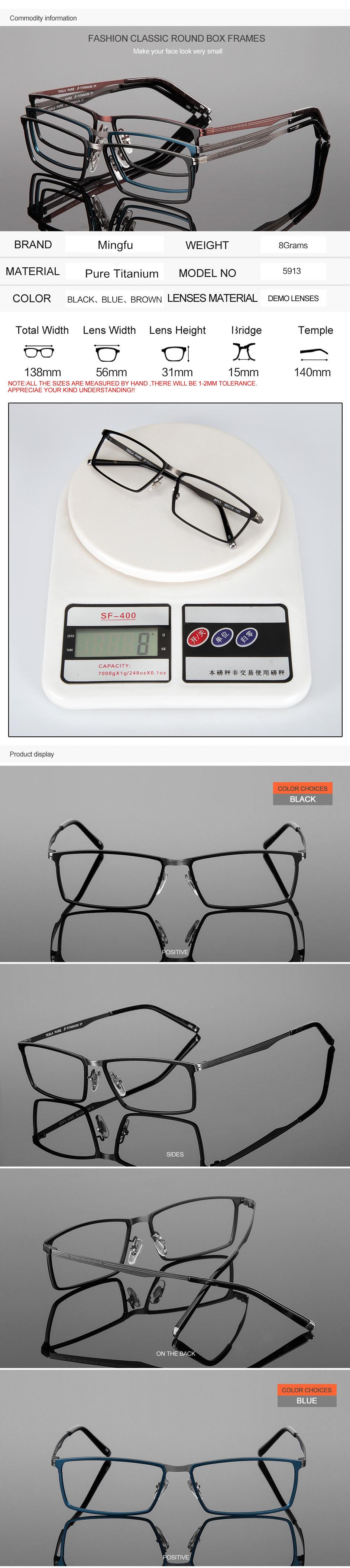 02d498df30 Pure Titanium Eyeglasses Rimless Optical Frame Prescription Spectacle  Frameless Glasses For Men Eye glasses Silicon Foot 16123USD 26.99 piece