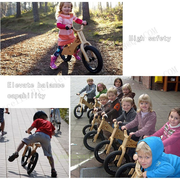 b29-Baby two wheels Wood Balance Bike for 2-6 Years age Bicicleta Infantil Balance Bike Kid's bicycle Common Childen's Cycling