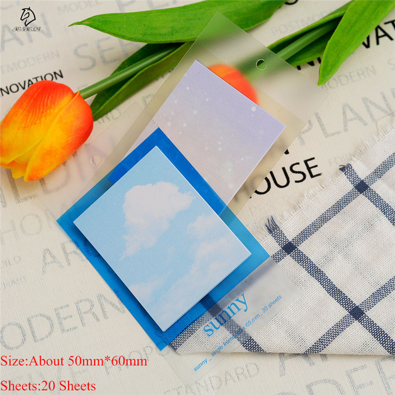 20 Sheets Simple Daily Weather Memo Pad Sticky Notes School Office Supplies Post Bookmark Label
