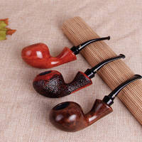 Stereo apple modeling new stone wood pipe Handmade removable hammer curved pipe smoking tool