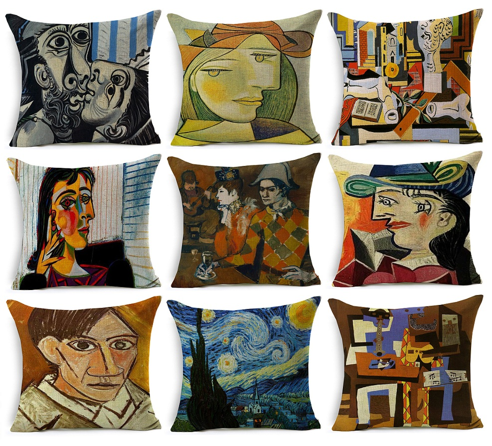 Pablo Picasso Famous Paintings Cushion Covers The Starry ...