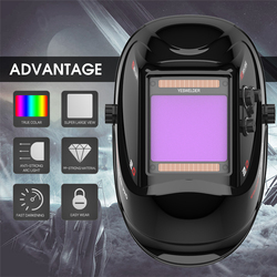 grand écran véritable couleur casque de soudage 4 Arc capteur solaire masque de soudage Auto assombrissement soudeur capot