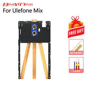 BingYeNing New Original For Ulefone Mix Middle Frame+rear camera camera glass lens Assembly Replacement