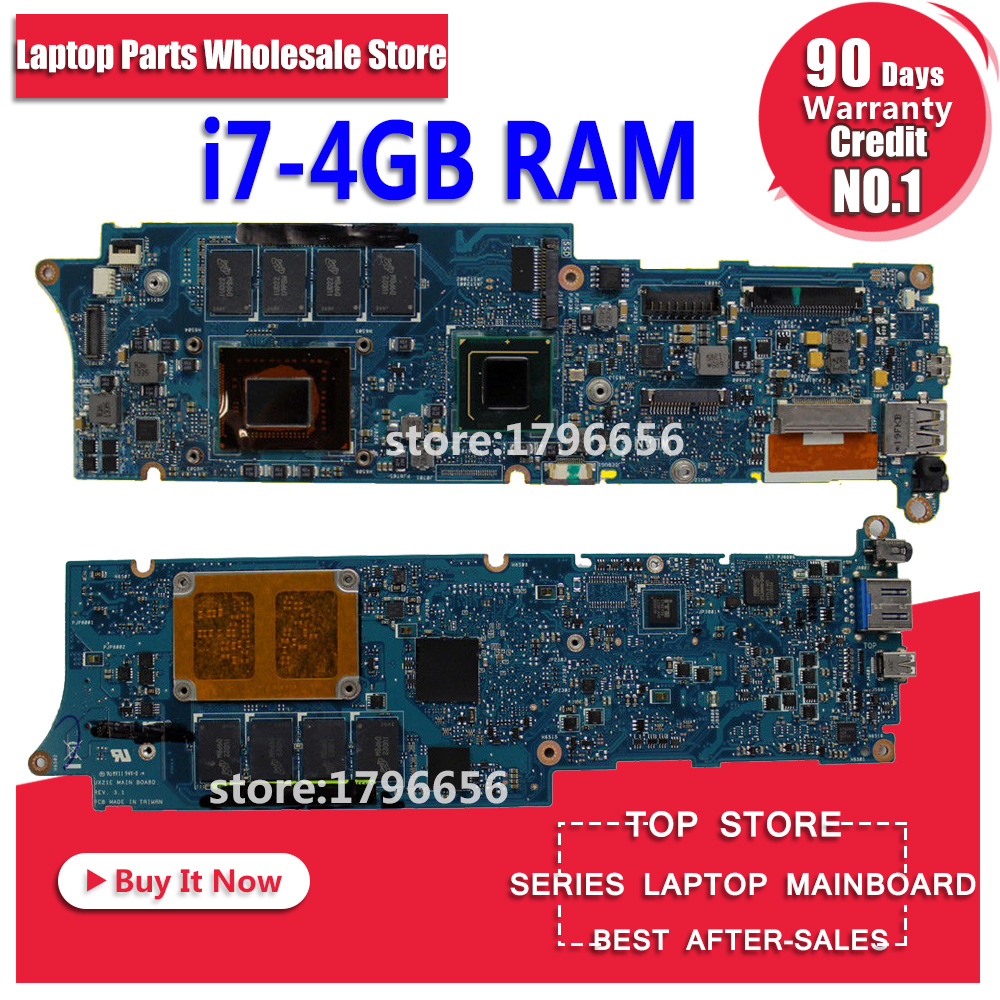 UX21E Motherboard 4GB RAM I7-2677M REV:3.1 For ASUS UX21E UX21 laptop main board UX21E Mainboard UX21E main board test ok цены