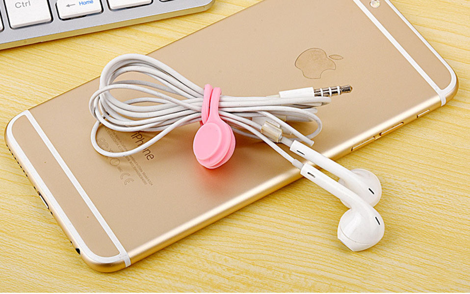 3PcsPack Earphone Cord Winder Cable Holder Organizer Clips Multi Function Durable Magnet Headphones Winder Cables Drop Shipping (12)