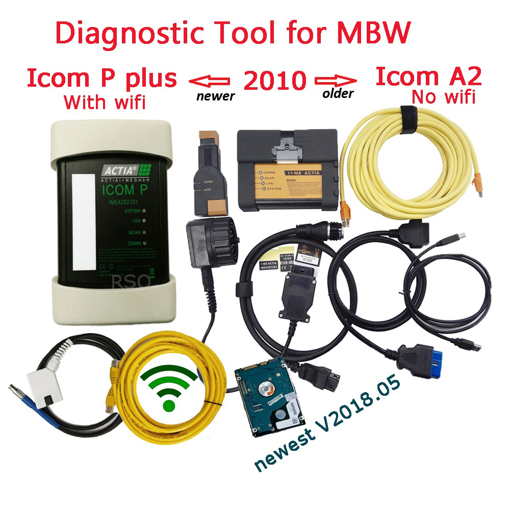 Newest version of WiFi ICOM Plus For BMW ICOM A2 B C Diagnostic & Programmer Tool ICOME P with 2018.05 SW of ICOM A2 Free Ship ...