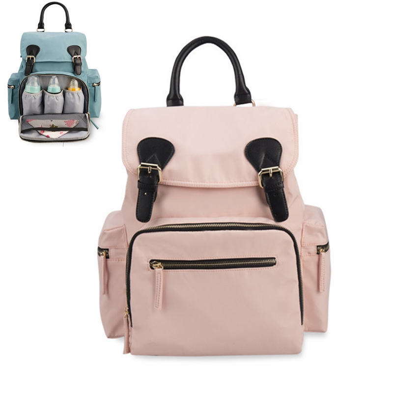 Fashion Nylon Large Black Blue Pink Mommy Backpack for Baby Care Baby Nappy Bag Maternity Backpack Bag Baby Stroller Bag chevrolet aveo 2012
