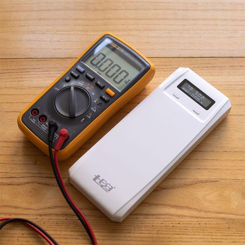 QD188-PD double USB QC 3.0 + Type C PD DC sortie 8x18650 Batteries bricolage batterie externe support de la boîte boîtier chargeur rapide pour téléphone portable