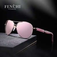 FENCHI rose lunettes de soleil femmes polarisées miroir lunettes femmes mode lunettes de soleil marque designer lunettes de soleil femme