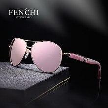 FENCHI – lunettes De soleil roses pour femmes, miroir noir, à la mode, marque De styliste