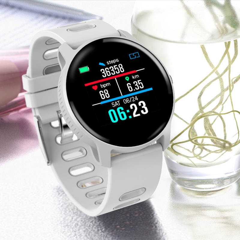 HEVARAL Smart Watch For Women <font><b>S08</b></font> IP68 Waterproof Fitness Tracker Heart Rate Monitor <font><b>Smartwatch</b></font> For Sports Running Regarder image