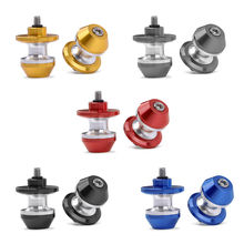 цена Swingarm Slider Spool Stand M8 8mm Screw Bolt for Honda Suzuki Ducati Kawasaki Aluminum POM Gold/Black/Blue/Red /Gray 1 Pair онлайн в 2017 году