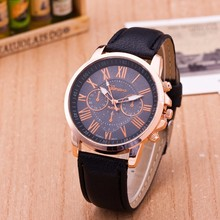 2018 Hot Brand Geneva Watches Women Men Casual Roman Numeral Watch For Men Women PU Leather Quartz Wrist Watch relogio Clock fashion jis brand hollow black white pu leather japan core quartz wrist watch hours clock for women men unisex